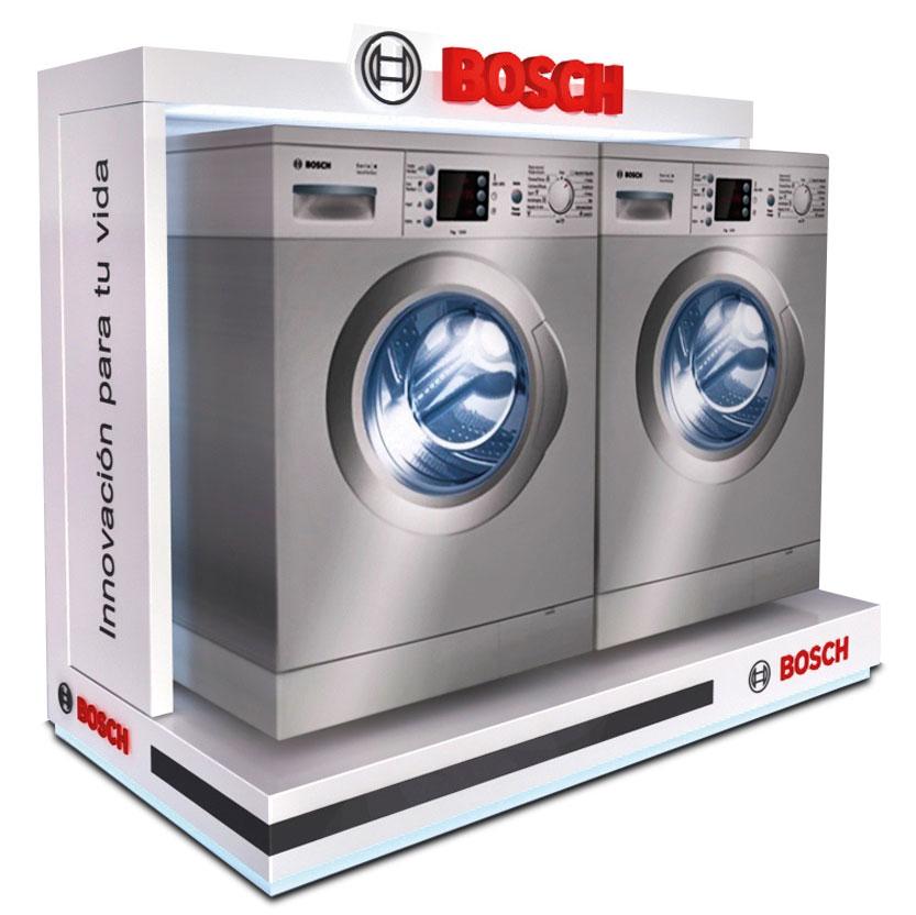 PLV Bosch Lavadoras   PLV para cliente del sector Electrodomésticos