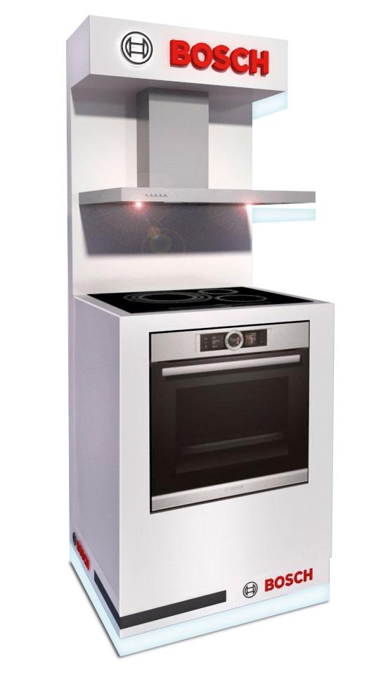 PLV Bosch Cocina | PLV para cliente del sector Electrodomésticos