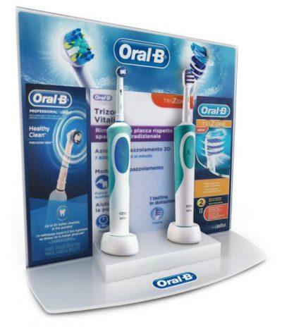 PLV Oral B | Ejemplo de PLV para cliente del sector OTC Farmacia