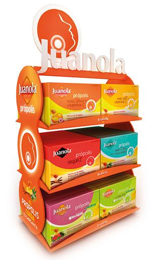 PLV Juanola | Ejemplo de PLV para cliente del sector OTC Farmacia