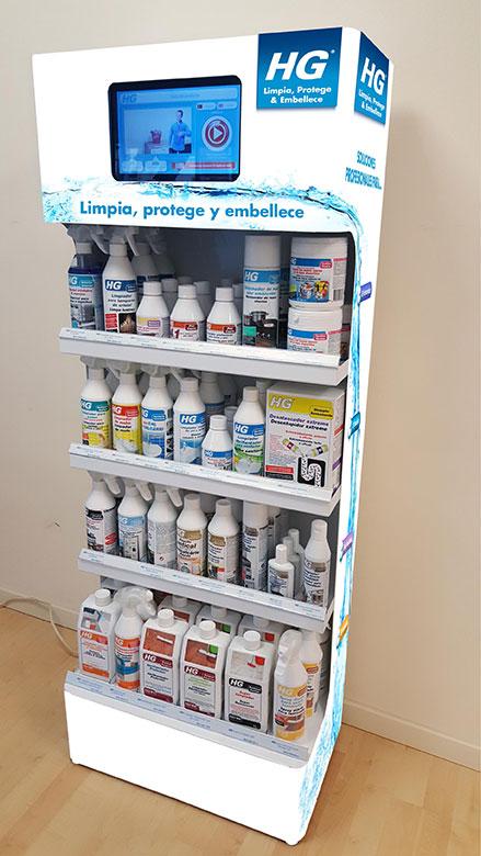 PLV HG   Ejemplo de PLV para cliente del sector Consumo