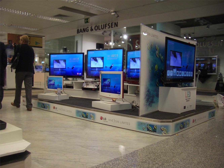PLV LG Electronics TV - Ejemplo de Mobiliario para cliente del sector Electrodomésticos