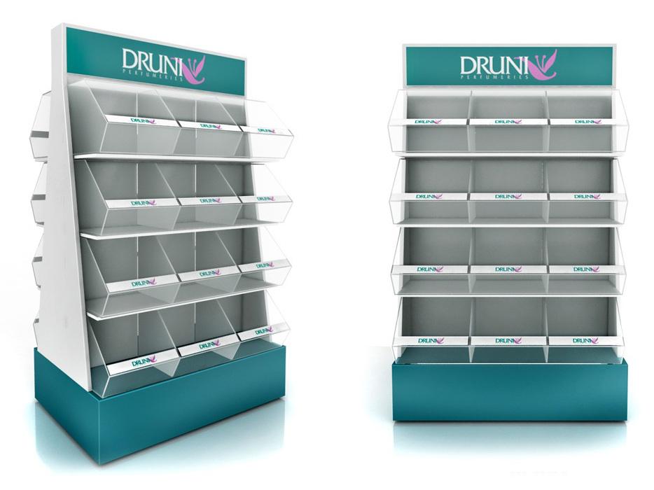 PLV Druni - Ejemplo de Mobiliario para cliente del sector Cosmética y Perfumería