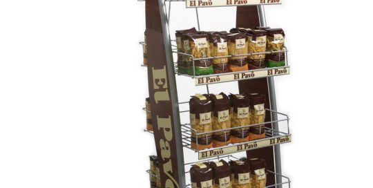 PLV El Pavo - Ejemplo de Expositor para cliente del sector del Gran Consumo