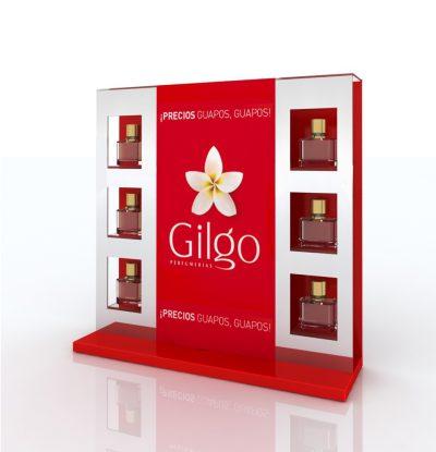 PLV Gilgo - Ejemplo de Mobiliario para cliente del sector Cosmética y Perfumería