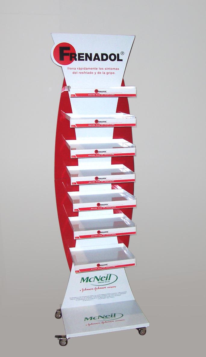 PLV Frenadol - Ejemplo de Expositor para cliente del sector OTC-Farmacia