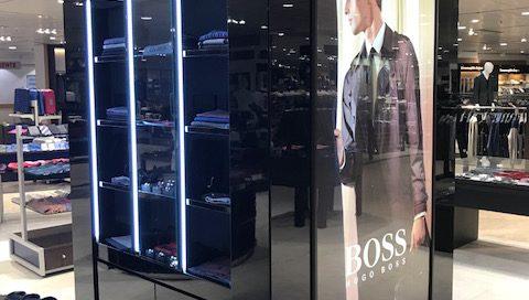 PLV Hugo Boss - Ejemplo de Mobiliario para cliente del sector Retail