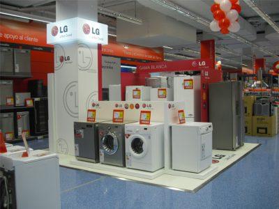 PLV LG Lavadoras - Ejemplo de Mobiliario para cliente del sector Electrodomésticos