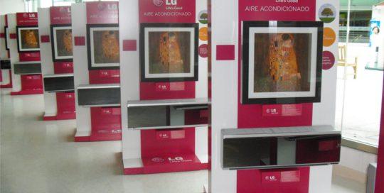 PLV LG Aire Acondicionado - Ejemplo de Mobiliario para cliente del sector Electrodomésticos