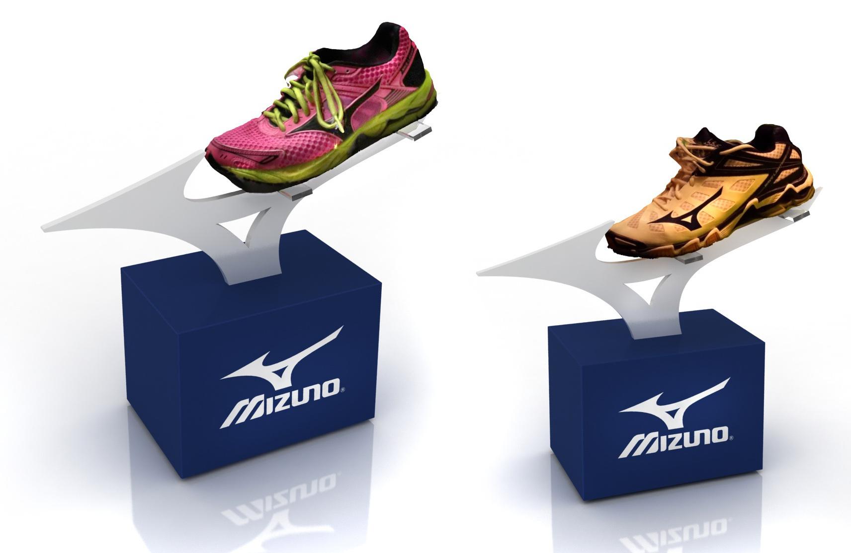 PLV Mizuno - Ejemplo de Expositor para cliente del sector Retail