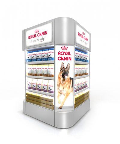PLV Royal Canin - Ejemplo de Mobiliario de Gran Consumo