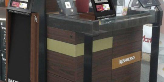 PLV Nespresso - Ejemplo de Mobiliario para cliente del sector Gran Consumo