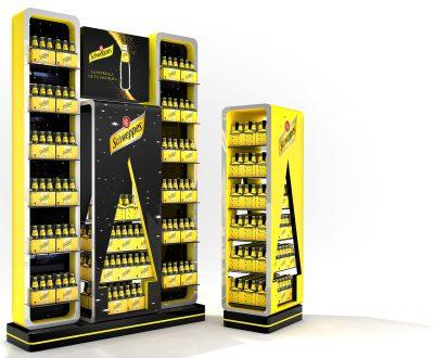 PLV Schweppes - Ejemplo de Mobiliario para cliente del sector del Gran Consumo