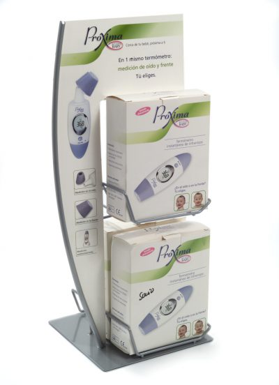 PLV Proxima - Ejemplo de Expositor para cliente del sector OTC-Farmacia