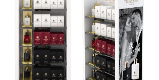PLV Trussardi - Ejemplo de Mobiliario para cliente del sector Cosmética y Perfumería