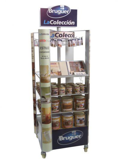 PLV Bruguer - Ejemplo de Expositor para cliente del sector Retail