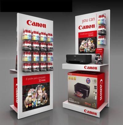 PLV Canon - Ejemplo de Expositor para cliente del sector del Gran Consumo