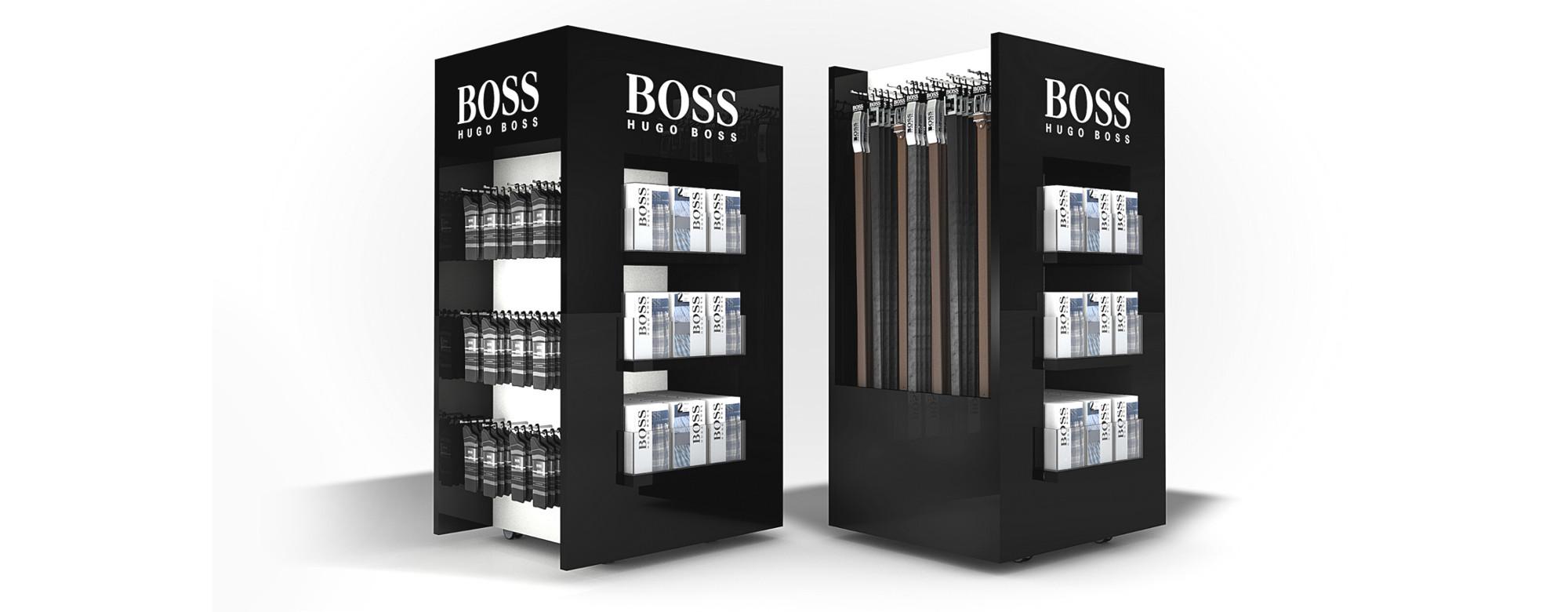PLV Hugo Boss - Ejemplo de Mobiliario Retail