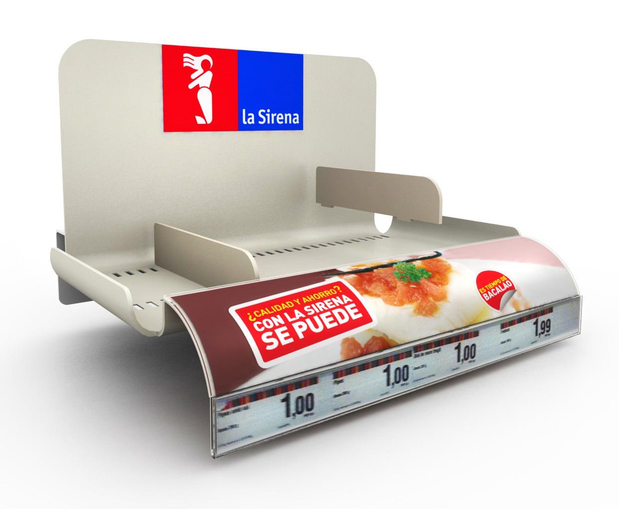 PLV La Sirena - Ejemplo de Expositor para cliente del sector del Gran Consumo